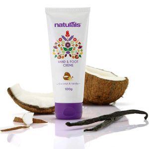 Naturals Coconut & Vanilla Hand And Foot Cream (100gm)