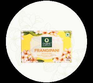 Organic Harvest Frangipani Bathing Bar Soap (125gm)