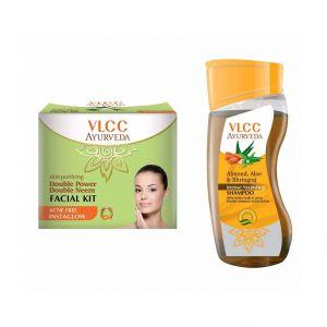 vlcc-ayurveda-double-neem-acne-free-facial-kit-intense-nourishing-shampoo-combo
