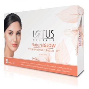 Lotus Herbals Natural Glow Skin Radiance Facial Kit Pack-of-4 (50gm)