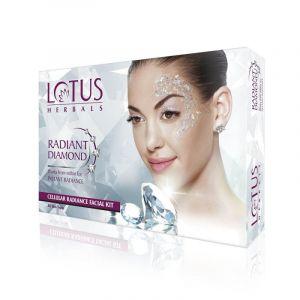 Lotus Herbals RADIANT DIAMOND Cellular Radiance Facial Kit Pack-of-4 (37gm)