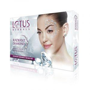 Lotus Herbals RADIANT DIAMOND Cellular Radiance Single Facial Kit (37gm)
