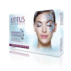 Lotus Herbals RADIANT PLATINUM Cellular Anti-Ageing Facial Kit (53gm)