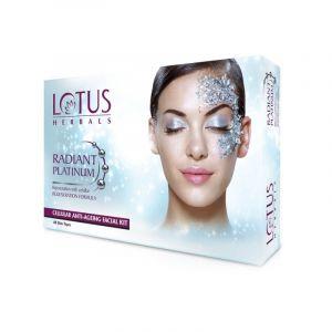 Lotus Herbals RADIANT PLATINUM Cellular Anti-Ageing Single Facial Kit (37gm)