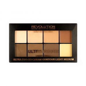 makeup-revolution-hd-pro-cream-contour-palette-fair-Light-Medium