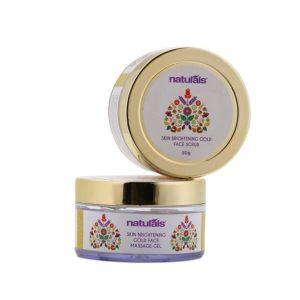 Naturals Skin Brightening Gold Face Massage Gel & Scrub Combo