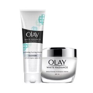 Olay White Radiance Brightening Intensive Cream With Cleanser Combo (150gm)