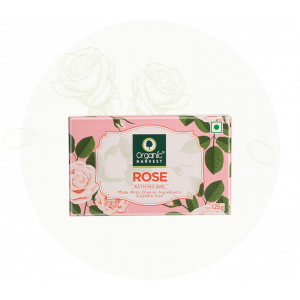 Organic Harvest Rose Bathing Bar Soap (125gm)
