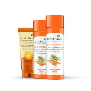 Biotique Bio Carrot Ultra Soothing Face Lotion Spf 40+ Sunscreen